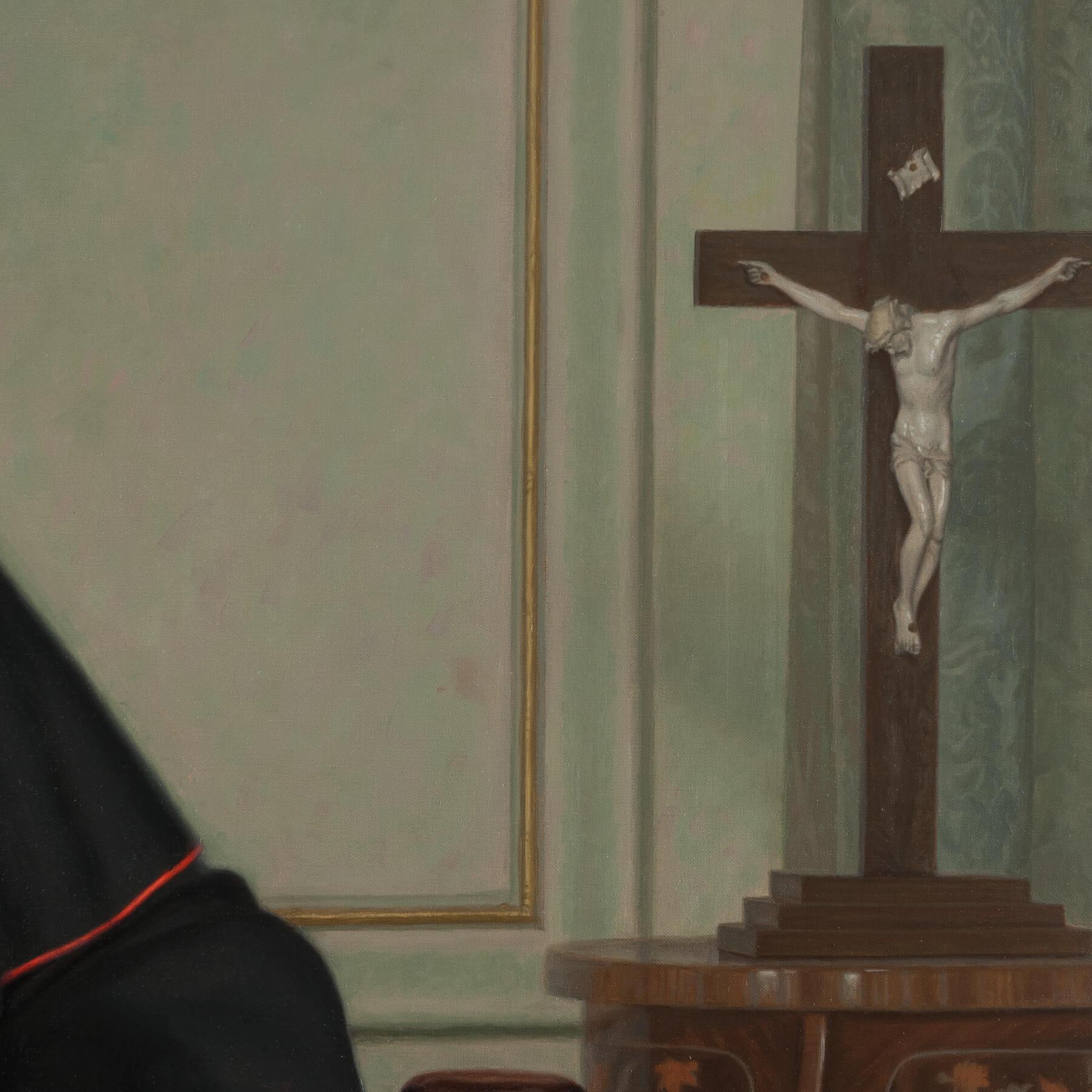 Crucifix statuepainting for Commissioned Portrait Art