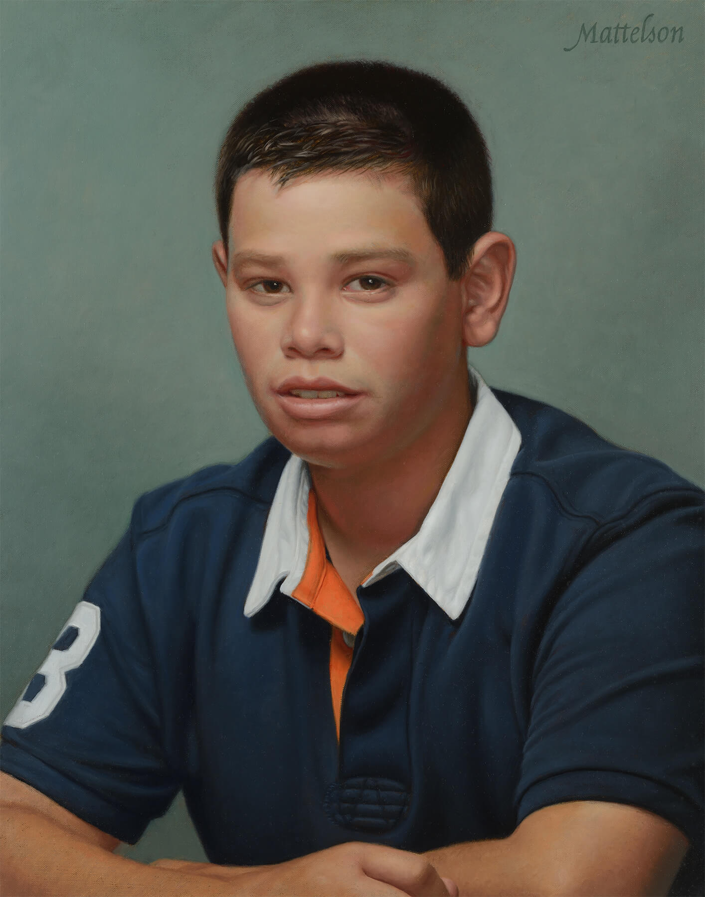 Portrait Painting of a Young Athlete