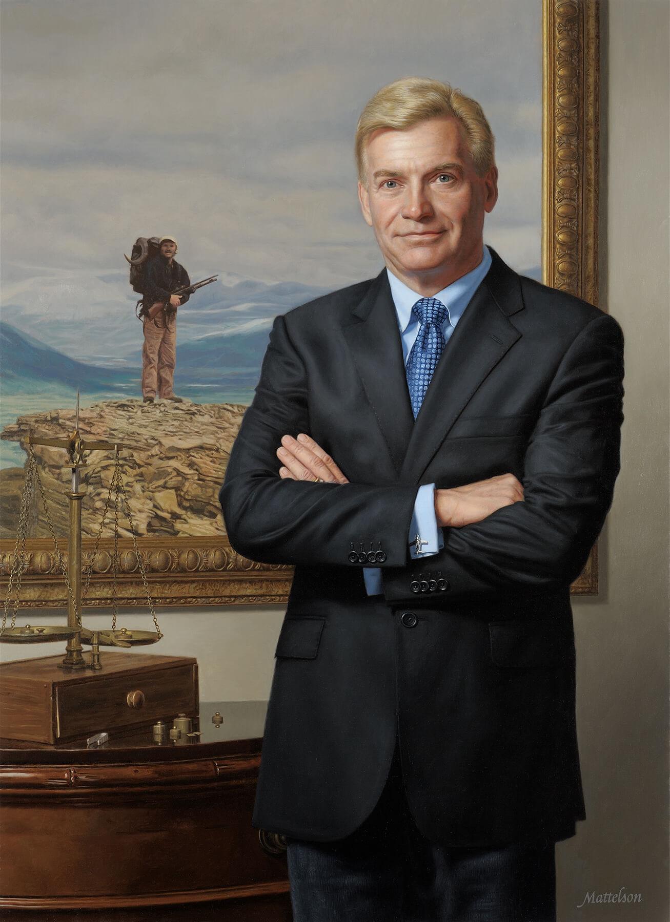 Executive Oil Portrait Painting Commission