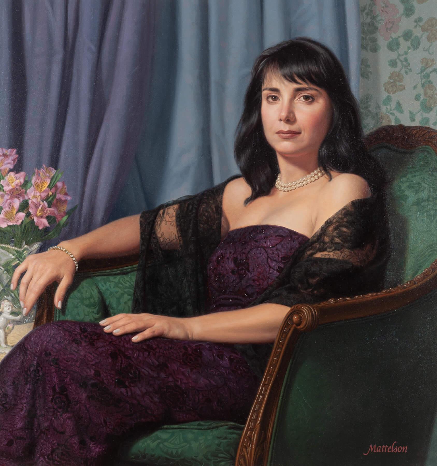 Woman's Custom Portrait by Marvin Mattelson