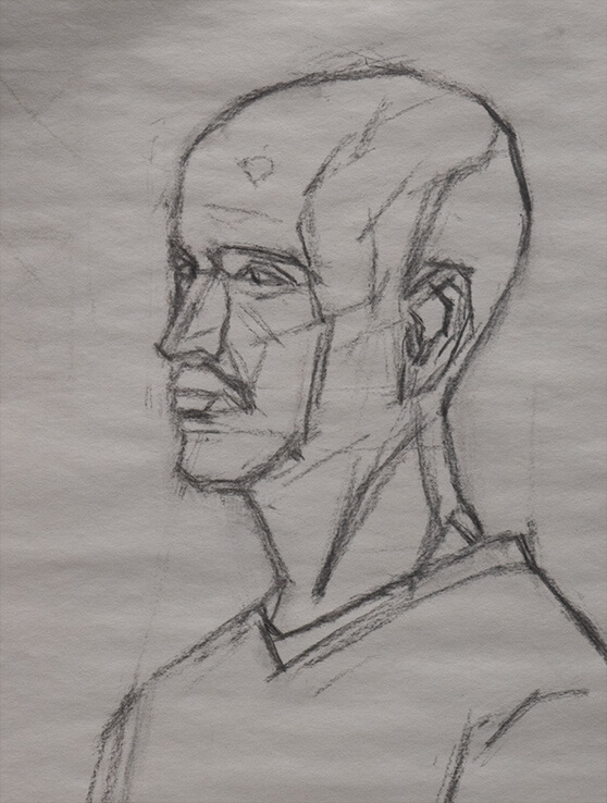 Marvin Mattelson in class demo drawing