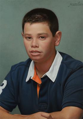 Boys Oil Portrait by Marvin Mattelson