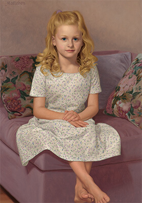 Classical Child Portrait by Marvin Mattelson