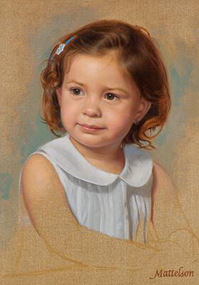 Girls Vignette Portrait by Marvin Mattelson