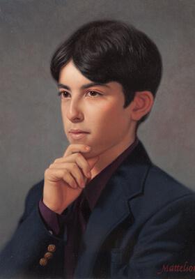 Oil Portrait Teen by Marvin Mattelson