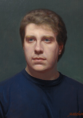 Head and Shoulders Oil Portrait