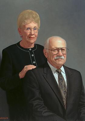 Couple's Oil Portrait by Marvin Mattelson