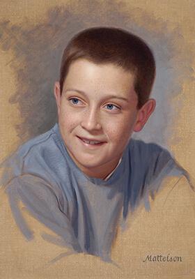Oil Vignette Portrait by Marvin Mattelson
