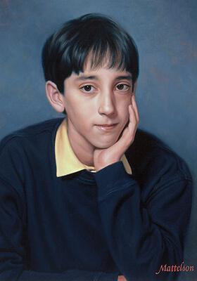 Custom Teen Oil Portrait by Marvin Mattelson