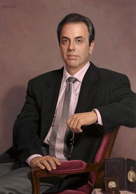 Academic Portrait in Oil by Marvin Mattelson