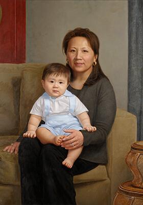 Maternal Oil Portrait by Marvin Mattelson