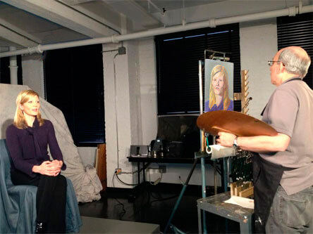 Kate Snow painted by Marvin Mattelson Portrait Artist
