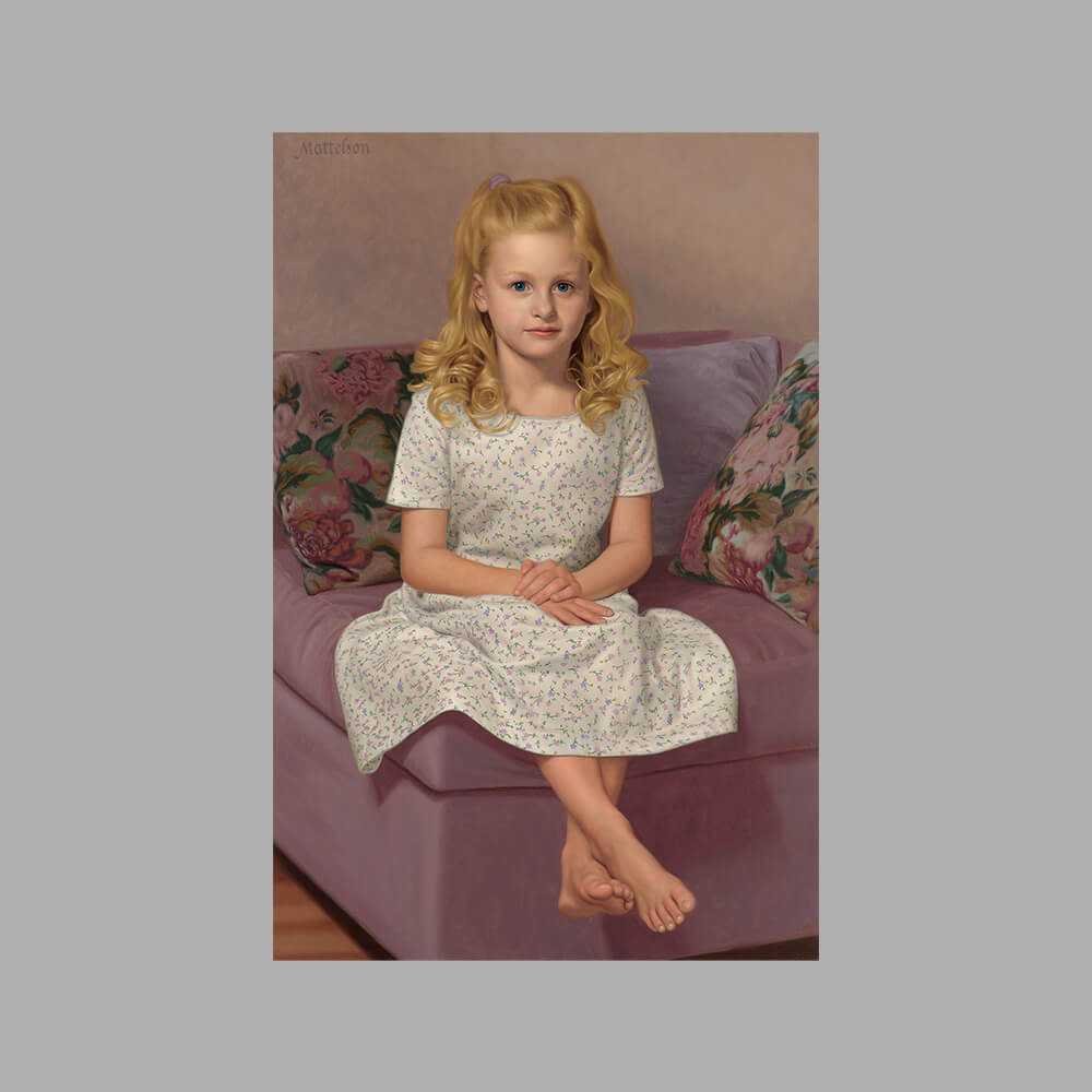 Full Figure Oil Portrait by Marvin Mattelson