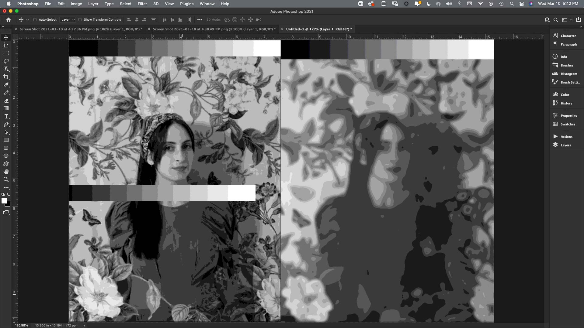 Zoom screen shot of Marvin Mattelson photoshop painting analysis