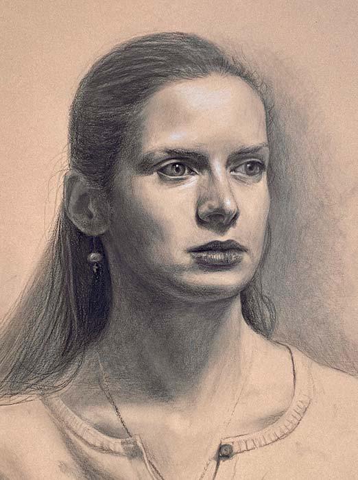 Student Portrait Drawing