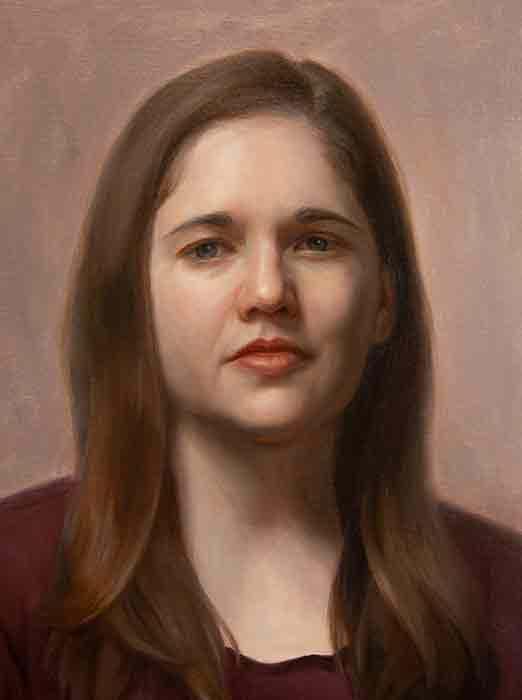 Student Oil Portrait Painting