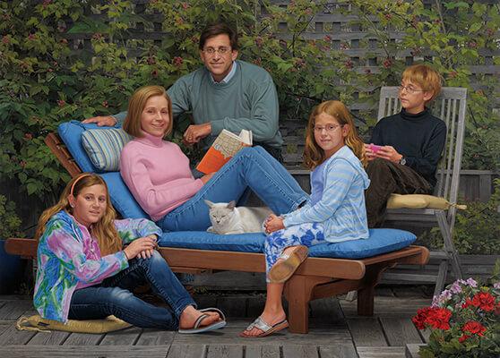 Hart-Cohen Family Portrait by Marvin Mattelson