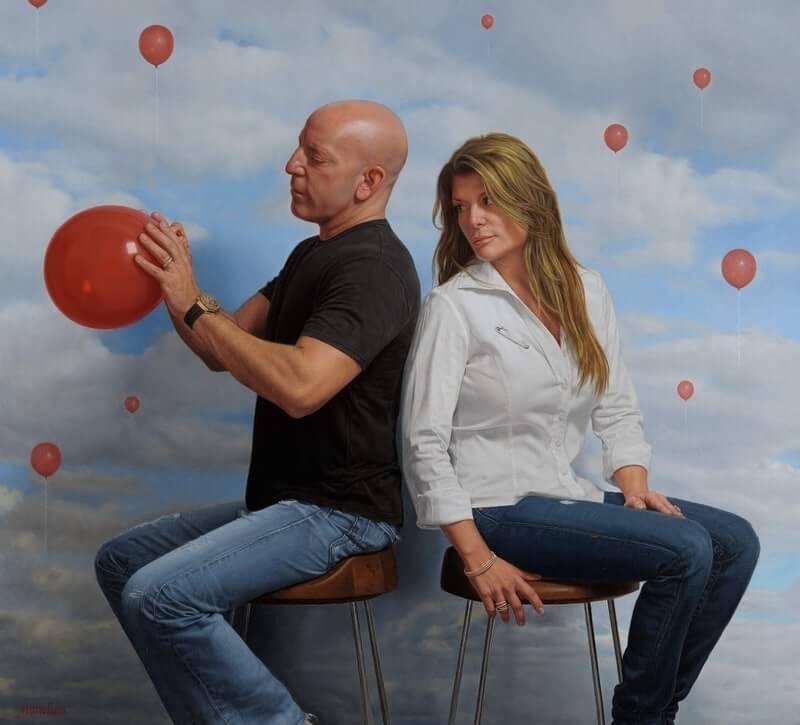 Contemporary Portrait of Pat & Jen by Marvin Mattelson