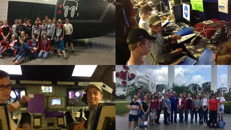 Hillbrook school at Camp KSC at the Kennedy Space Center