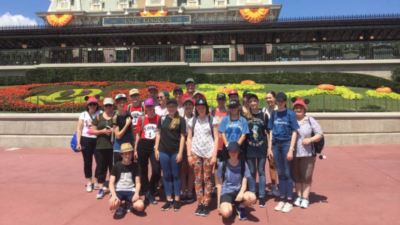 Students visit Disney on their school tour
