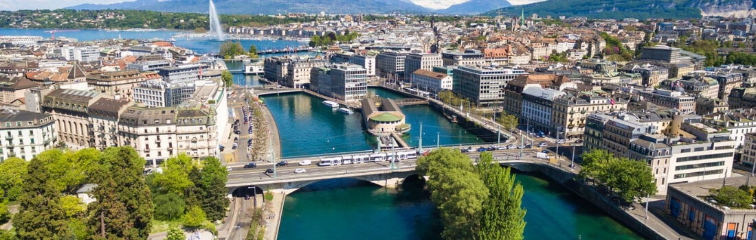 Panoramic shot of Geneva, Switzerland