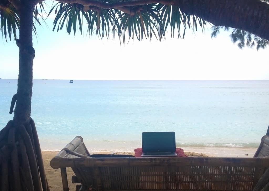 místo na práci - Bali