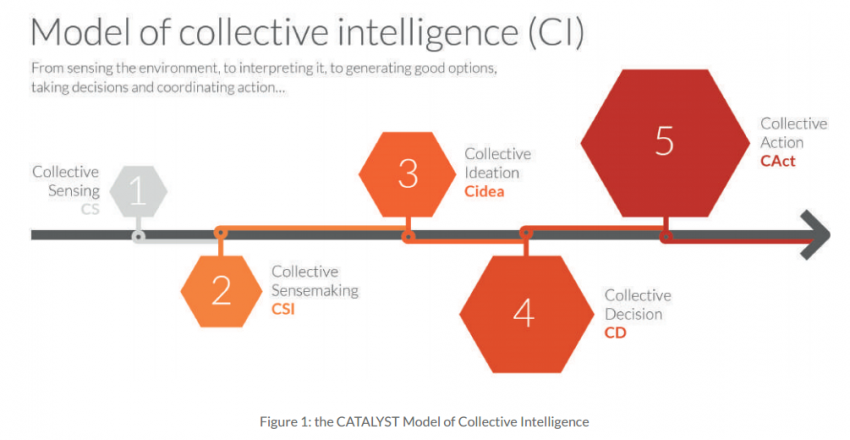 Figure 2 - Modèle de l'intelligence collective