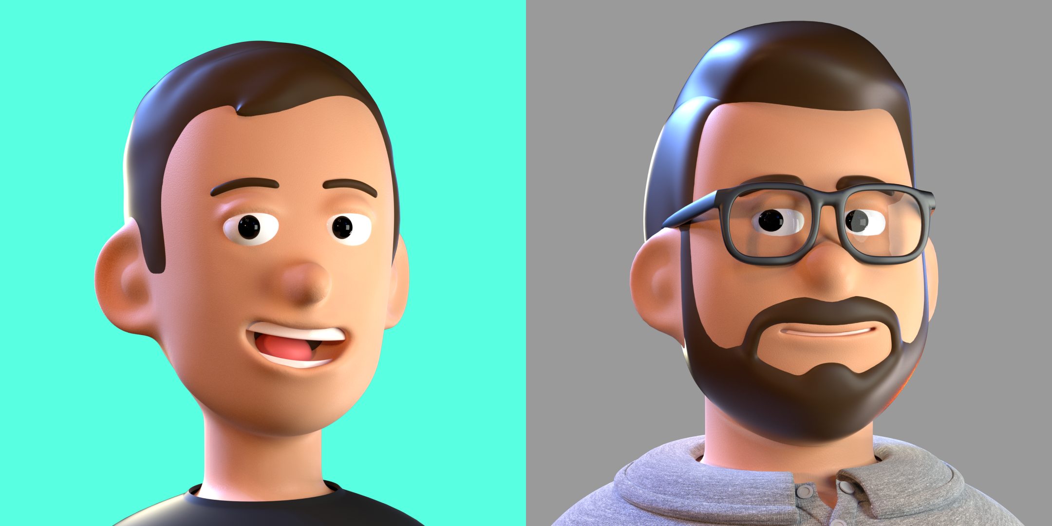 Heads Julian and Tino - Volume Modeling - 2021