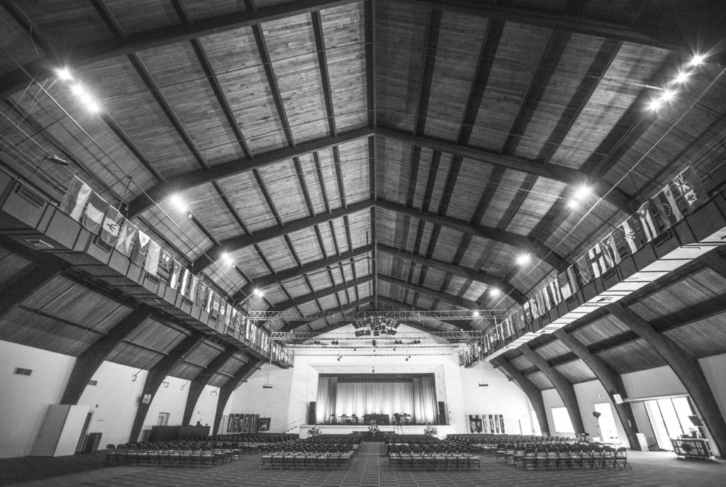 "Interior image of The River Place, ""Barn""  venue space"