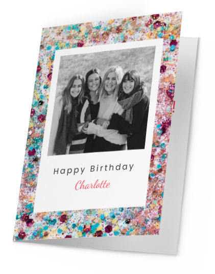 Personalised Photo Greeting Cards Folded
