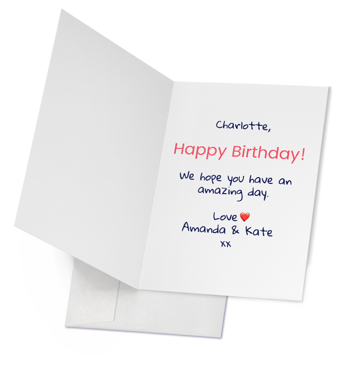 Personalised Photo Greeting Cards Folded With Envelope