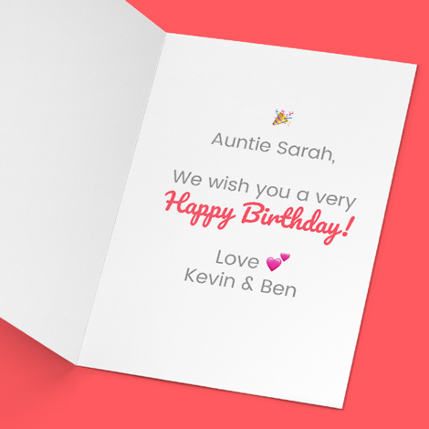Personalised Photo Greeting Cards Message