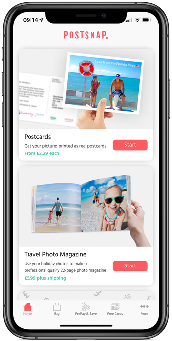 PostSnap App Home
