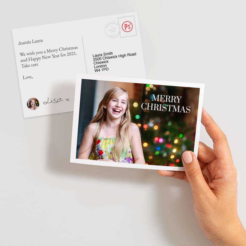Send a christmas postcards online