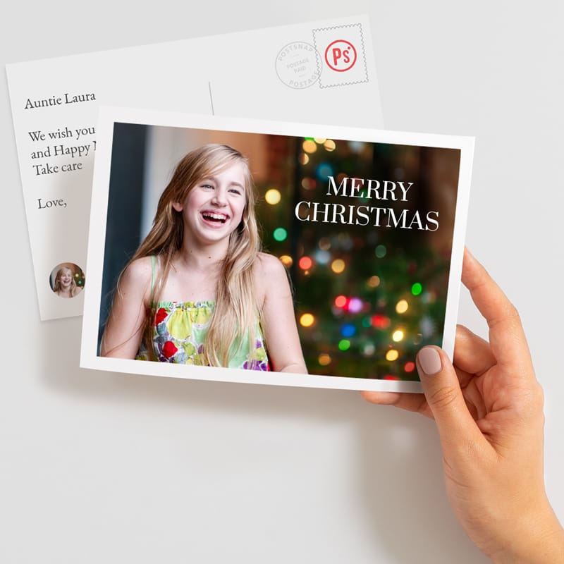 Send a large christmas postcards online