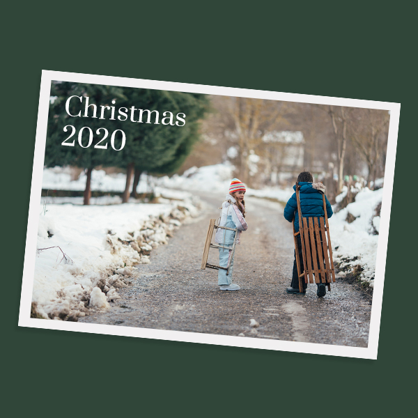 Online christmas photo postcards maker