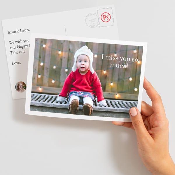Send a large photo postcard online