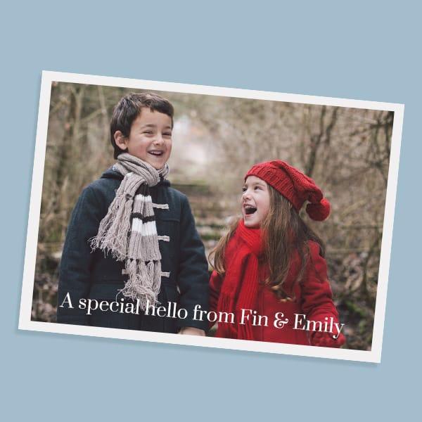 Online photo postcards maker