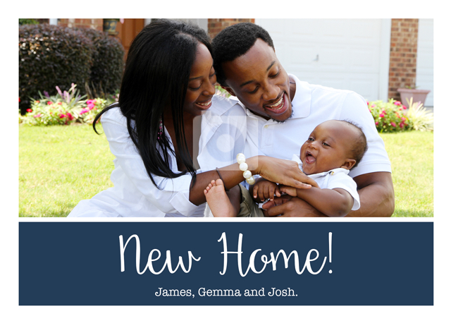 Create a Real Photo New Home Plain Banner  Card