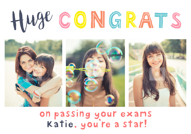 Create a Real Photo Huge Congrats Card