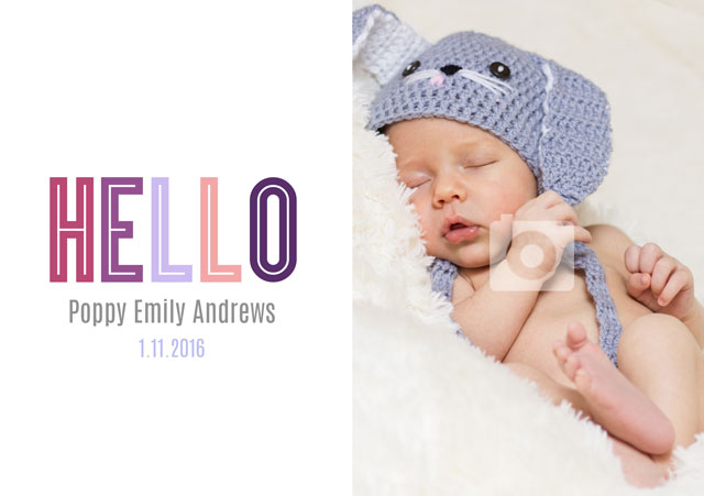 Create a Real Photo Hello Baby  Card