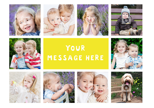 Create a personalised photo card 10 Collage Any Occassion