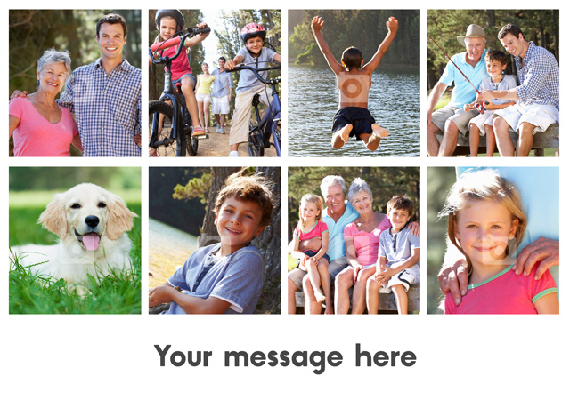 Create a personalised photo card 8 Photos