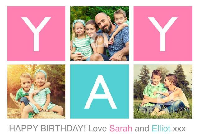 Create a Real Photo 'Yay' Happy Birthday  Card