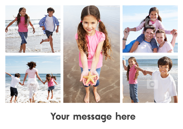 Create a personalised photo card 5 Photos