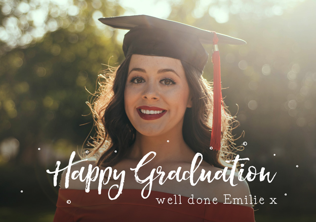 Create a personalised photo card Happy Graduation