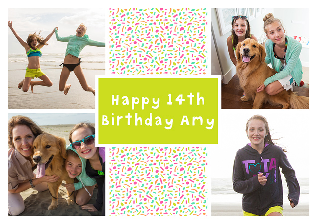Create a Real Photo Collage Dotty Card