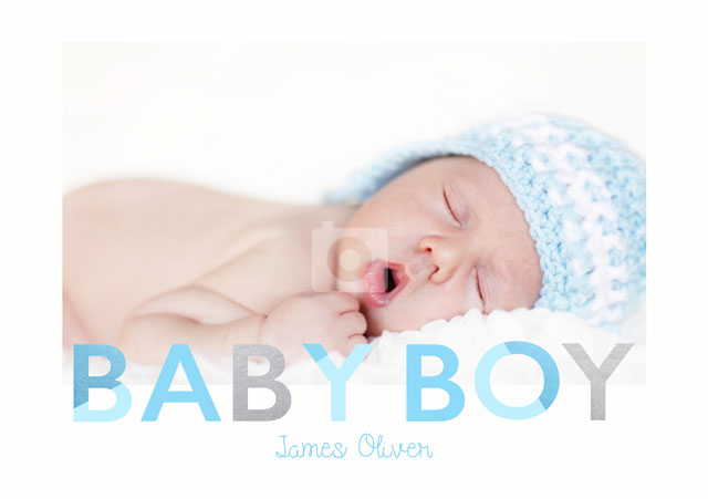 Create a Real Photo Baby Boy  Card