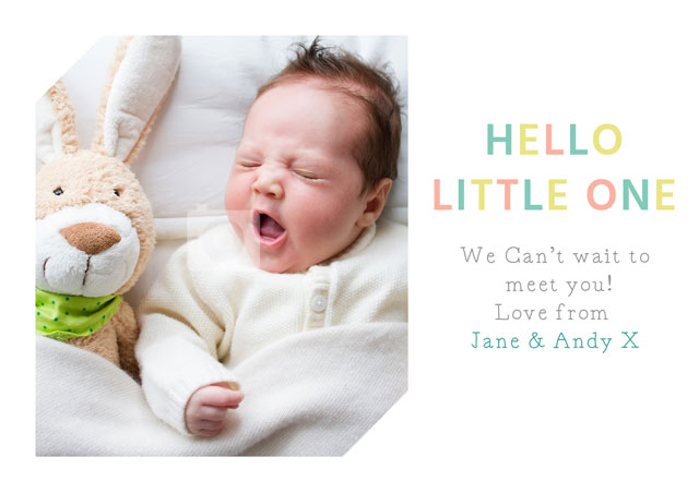 Create a Real Photo Hello Little One 2 Card