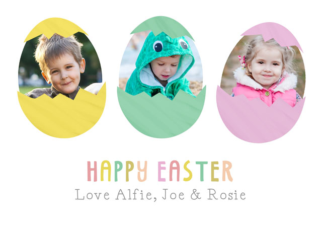 Create a Real Photo Photo Easter Card Easter Eggs Card